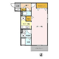 T'レボリューション[2階]の間取り