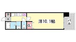 レジディア三宮東[2階]の間取り