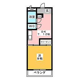 カラタケハイツ[1階]の間取り