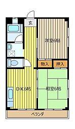 綱島マンション[4階]の間取り