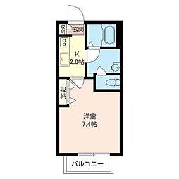 ラフィネKG[1階]の間取り
