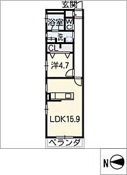 覚王山アパートメント[3階]の間取り