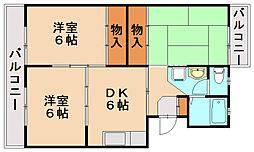 第2金信コーポ[4階]の間取り