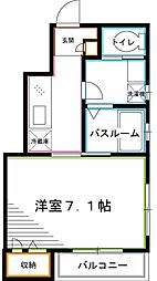 JR中央本線 阿佐ヶ谷駅 徒歩7分の賃貸アパート 1階1Kの間取り
