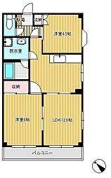 さくら第1マンション[2階]の間取り