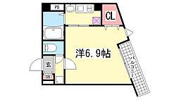 アネスト神戸西元町[601号室]の間取り