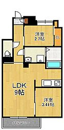 Studie TOBIHATA(スタディ飛幡)[3階]の間取り