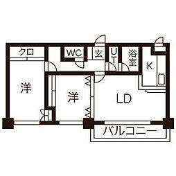ASKA M's 17(アスカエムズ)[402号室]の間取り