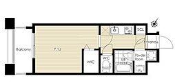 ザ・レジデンス博多(VeiL HAKATA) 9階1Kの間取り