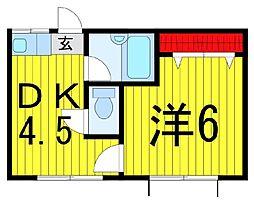 ホワイトハウスK[3階]の間取り