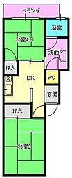 狐島興里アパート[3号室]の間取り