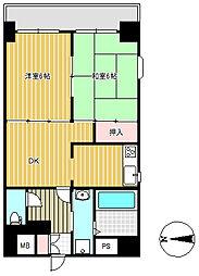 上杉八番館[9階]の間取り