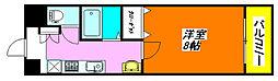 グランディー・小阪 405号室[4階]の間取り