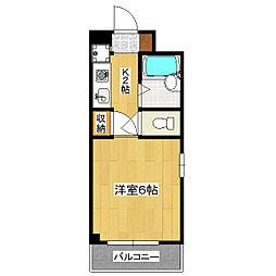 ブリスアビタシオン[2階]の間取り