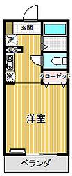 犬目学生マンション[1階]の間取り