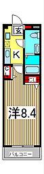 フローレス六番館[3階]の間取り