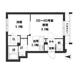 札幌市営東西線 西11丁目駅 徒歩8分の賃貸マンション 1階1LDKの間取り