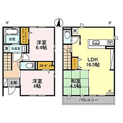 仮称D-Room和田東A棟[1階]の間取り