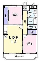 神奈川県横浜市緑区青砥町の賃貸マンションの間取り