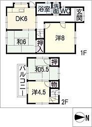 [一戸建] 愛知県名古屋市守山区川北町 の賃貸【/】の間取り