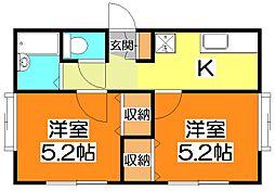 エクセル浅間[1階]の間取り