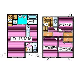 [タウンハウス] 北海道札幌市北区太平九条3丁目 の賃貸【/】の間取り