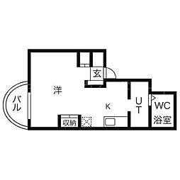 北海道札幌市中央区南二条西25丁目の賃貸マンションの間取り