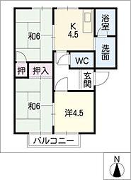サンハウス21[1階]の間取り