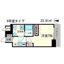 アドバンス心斎橋ラシュレ[6階]の間取り
