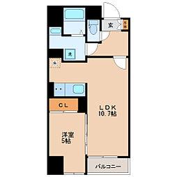 仙台市地下鉄東西線 青葉通一番町駅 徒歩9分の賃貸マンション 2階1LDKの間取り