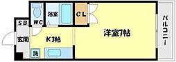 アヴァンセクール江坂[6階]の間取り