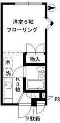 西新宿フラット B[201号室]の間取り