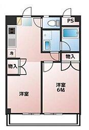 神奈川県横浜市中区麦田町1丁目の賃貸マンションの間取り