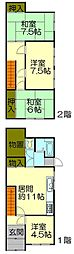 [一戸建] 北海道小樽市末広町 の賃貸【北海道 / 小樽市】の間取り