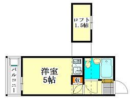 千葉県船橋市東船橋1丁目の賃貸アパートの間取り