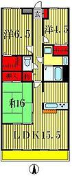 リズ松戸[1階]の間取り