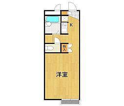レオパレスYamamoto[2階]の間取り