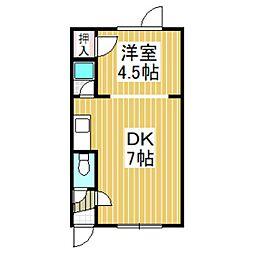 シャルム宮前[203号室]の間取り