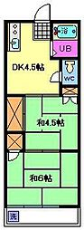 コーポ前地[2階]の間取り