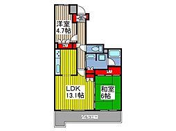 川口パークハウス[4階]の間取り