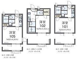 京王線 京王八王子駅 徒歩11分の賃貸マンション 1階1Kの間取り