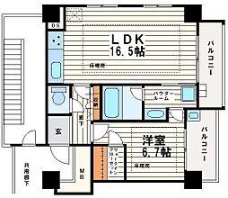 松屋タワー[9階]の間取り