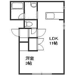宮の森310マンション[2階]の間取り