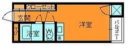 奈良県生駒郡斑鳩町服部1丁目の賃貸マンションの間取り