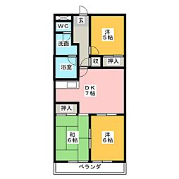 レジデンス鶴里[1階]の間取り