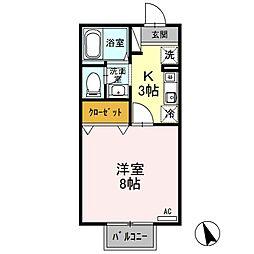 アメニティーハウス[2階]の間取り