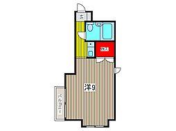 キャッスルマンション西川口駅前[404号室]の間取り