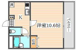 アメニティ吉塚[3階]の間取り