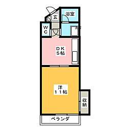 コウシンハイツ[3階]の間取り