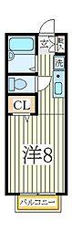 ビューラM[2階]の間取り